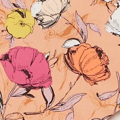 Dark Peach Floral