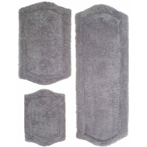 Paradise Memory Foam 3 Piece Bath Rug Set Gray Chesapeake Merchandising Inc