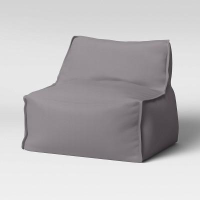 Armless Lounge Chair Gray - Pillowfort™