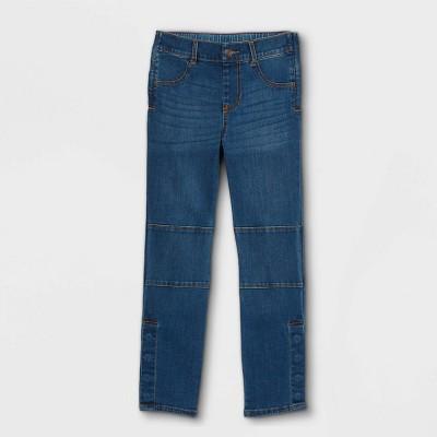 Boys' Adaptive Diaper Friendly Jeans - Cat & Jack™ Dark Wash
