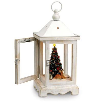 Mr. Christmas Mr. Christmas Rustic Lighted Fiber Optic Musical Table Top Lantern #78751