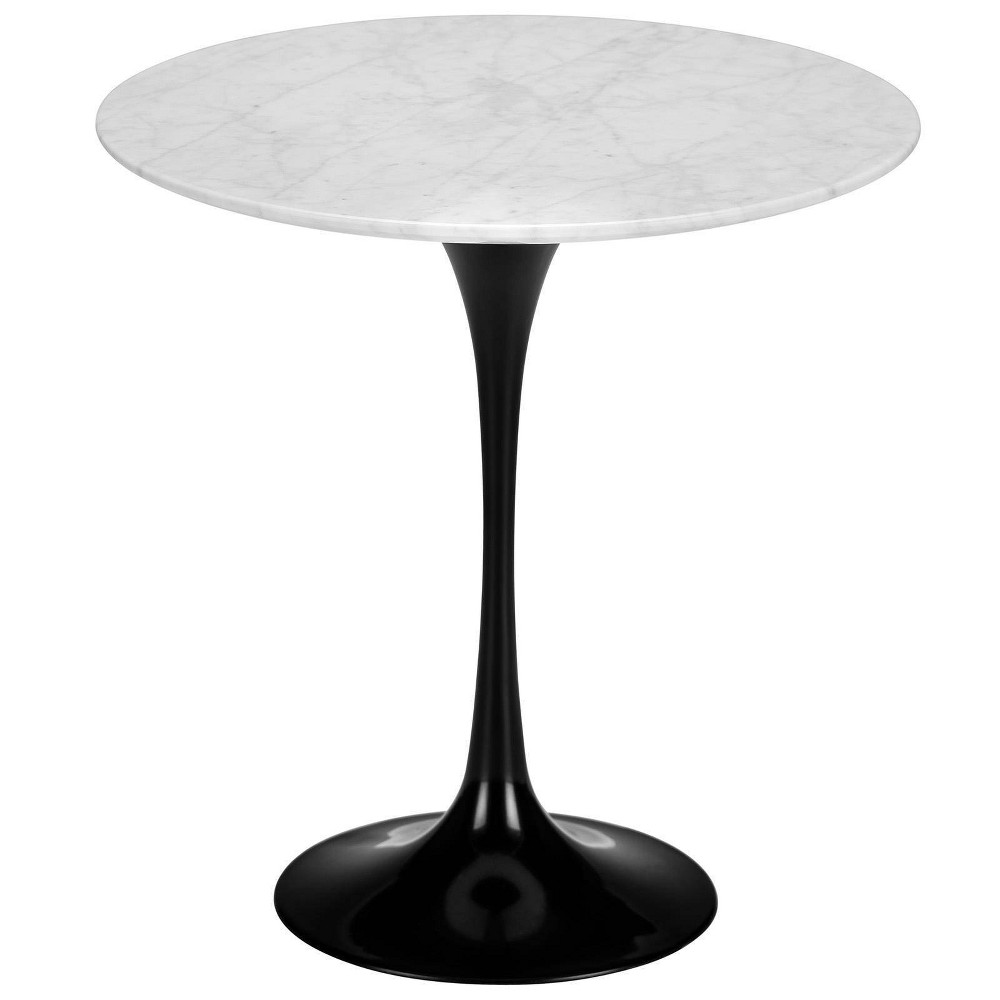 "Image of ""20"""" Grant Contemporary Marble Side Table Base Black - Poly & Bark"""