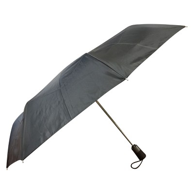 Totes Titan Automatic Open Close Windproof & Water-Resistant Foldable Compact Umbrella - Black