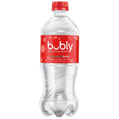 bubly Strawberry Enhanced Water - 20 fl oz Bottle