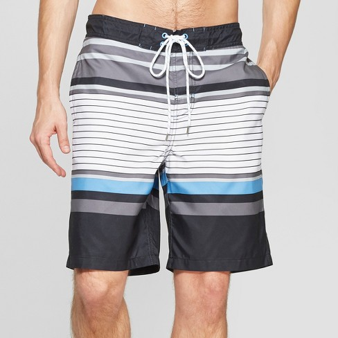 "Men's 9"" Striped Swim Trunks - Goodfellow & Co™ - image 1 of 3"