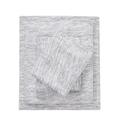 Queen Cotton Jersey Knit Sheet Set Gray