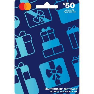 Mastercard Gift Card - $50 + $5 Fee
