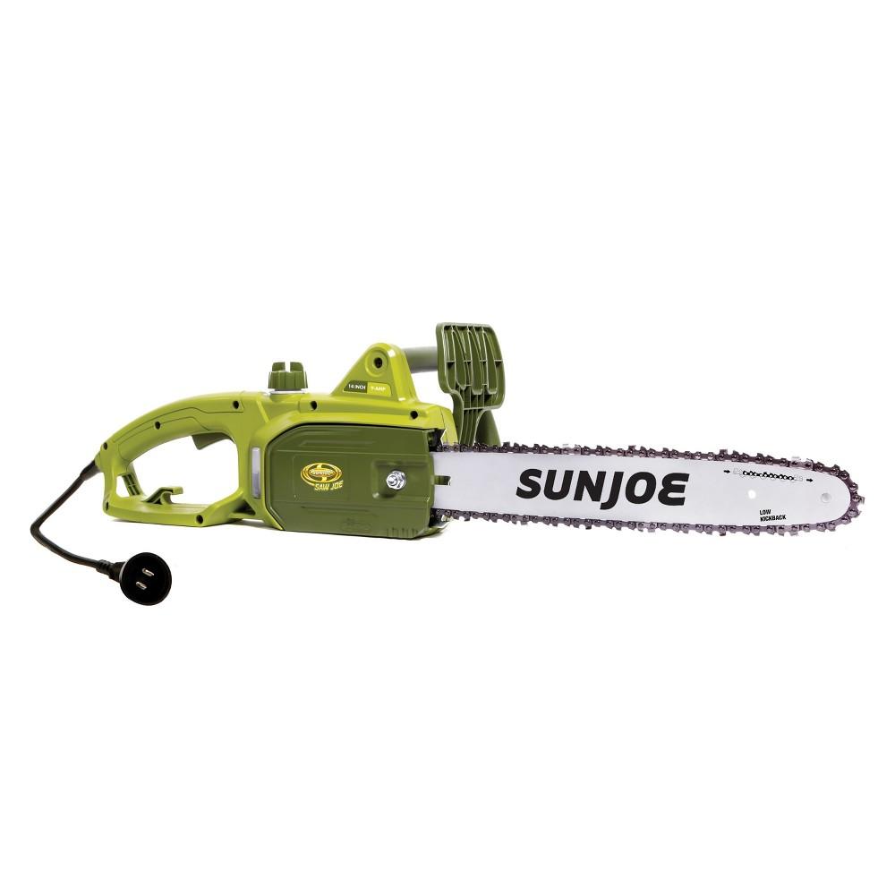 12H 9 Amps 120V Electric Chain Saw - Green - Sun Joe