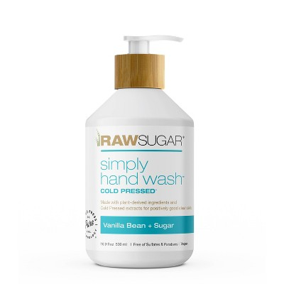 Raw Sugar Simply Hand Wash Vanilla Bean + Sugar - 16.9 fl oz