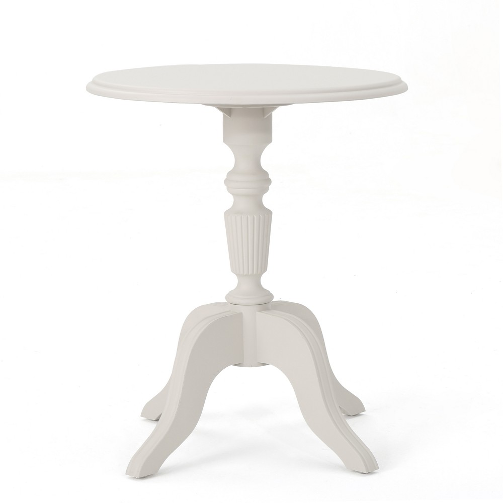 Danish Plastic Nylon Side Table - French White - Christopher Knight Home