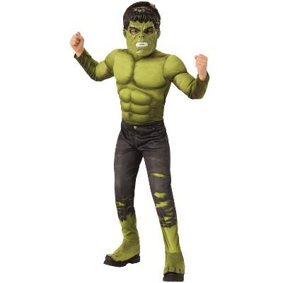 Kids' Marvel Hulk Av4 Deluxe Halloween Costume - L