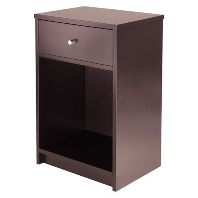 Squamish Nightstand with 1 Drawer - Espresso Brown - Winsome