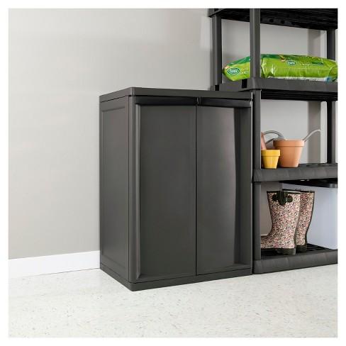 Sterilite 2 Shelf Garage Or Utility Storage Cabinet Flat Gray Target