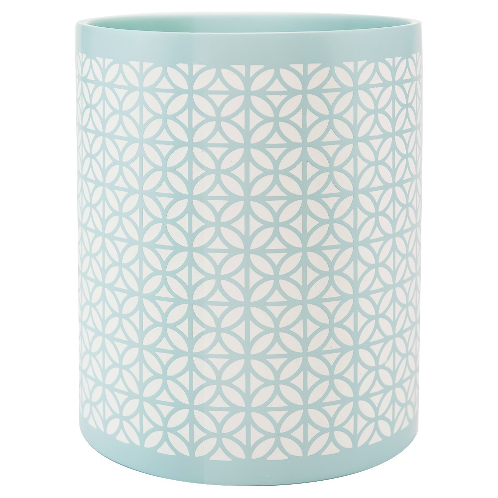 Image of Felix Wastebasket Aqua Blue - Allure