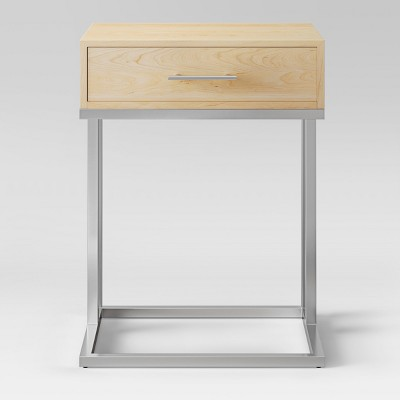 Maison Accent Table Chrome and Wood - Project 62™