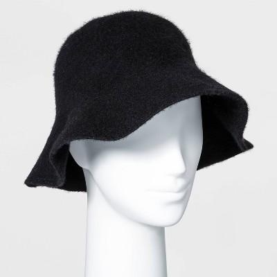 Women's Knit Bucket Hat - Universal Thread™ Black
