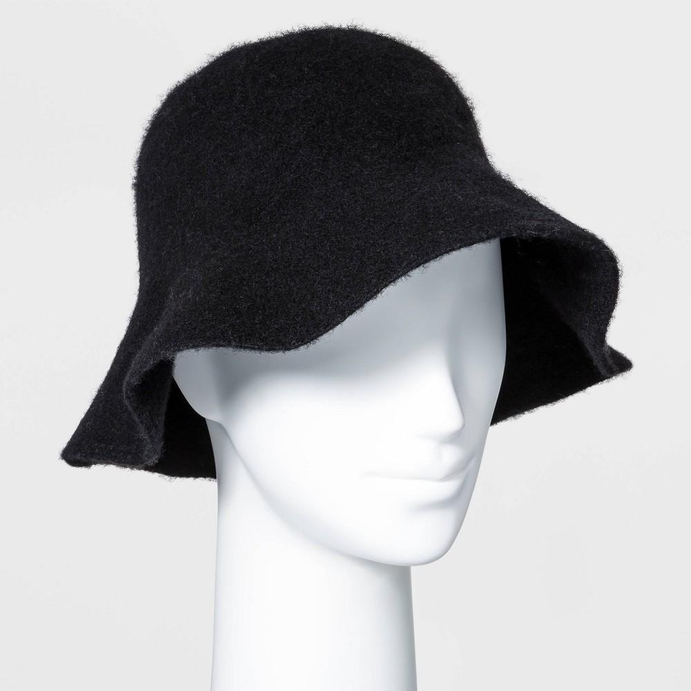 Vintage Hats   Old Fashioned Hats   Retro Hats Womens Knit Bucket Hat - Universal Thread Black $15.00 AT vintagedancer.com