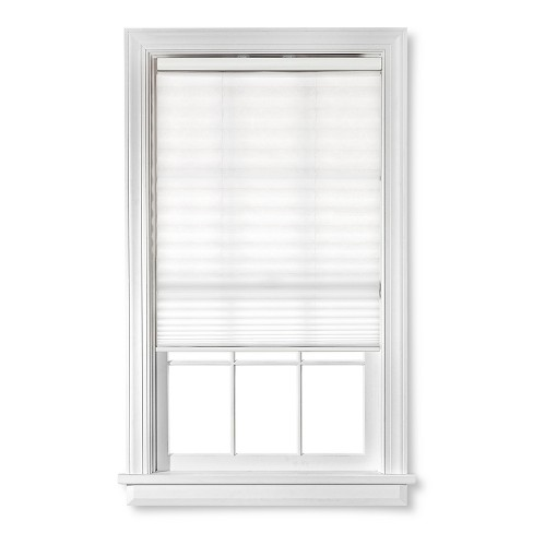"36""x72"" 1/2"" Cordless Pleated Light Filtering Window Shade White - Bali Essentials - image 1 of 1"