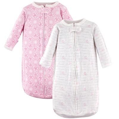 Hudson Baby Infant Girl Cotton Long-Sleeve Wearable Sleeping Bag, Sack, Blanket, Script