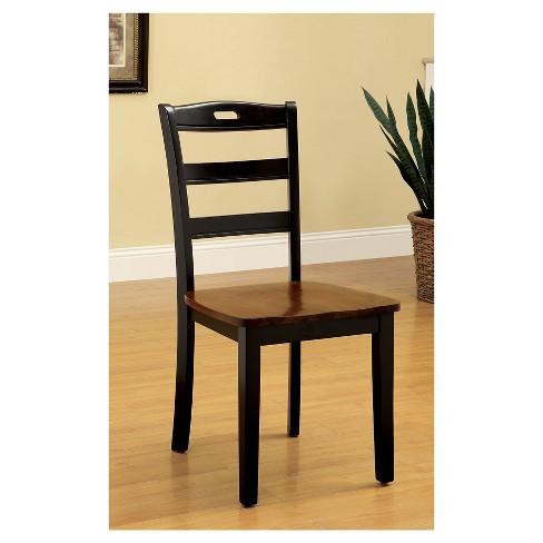 Sun & Pine Ladder Back Wooden Chair Wood/Antique Oak/Black (Set of 2) :  Target - Sun & Pine Ladder Back Wooden Chair Wood/Antique Oak/Black (Set Of 2