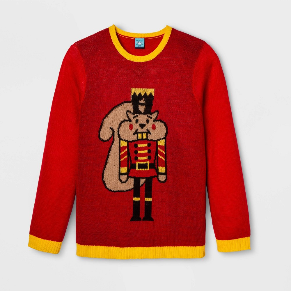Image of Gender Inclusive Nutcracker Plus Size Sweater - Red 1X, Adult Unisex, Size: 1XL