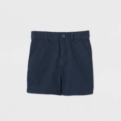 Toddler Boys' Flat Front Stretch Uniform Shorts - Cat & Jack™ Navy