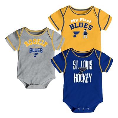 St. Louis Blues Boys' Game Winner 3pk Body Suit Set 3-6M