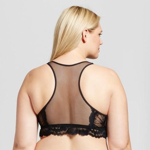 2ddb3f62a16bc Women s Plus Size Racerback Bralette - Ava   Viv™ Black - 2X   Target