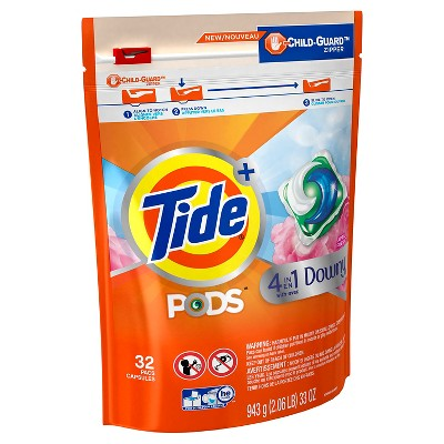 Tide Pods Plus Downy April Fresh Scented Liquid Detergent - 32ct