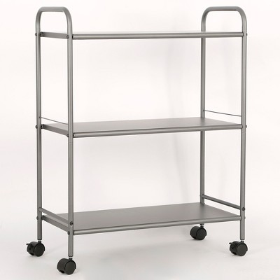 3 Shelf Wide Utility Storage Cart Gray - Room Essentials™