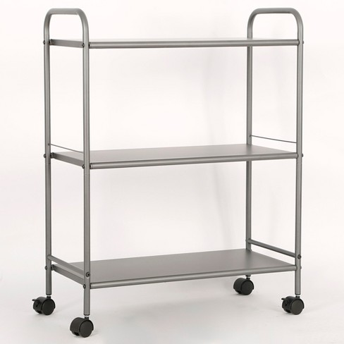3 Shelf Wide Utility Storage Cart Gray - Room Essentials™ - image 1 of 4