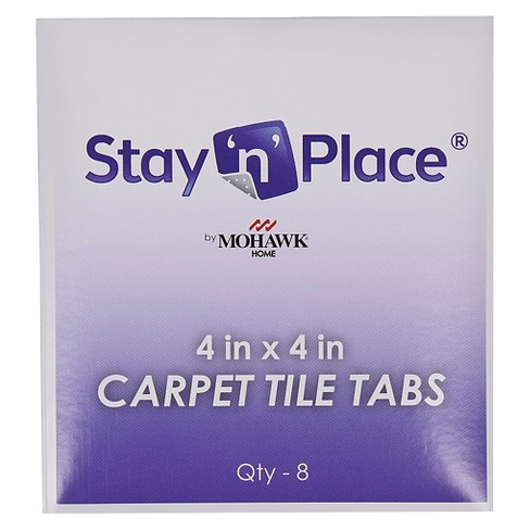 Squared Stay N Place Extra Carpet Tile Tabs Box Of 8 4 X4