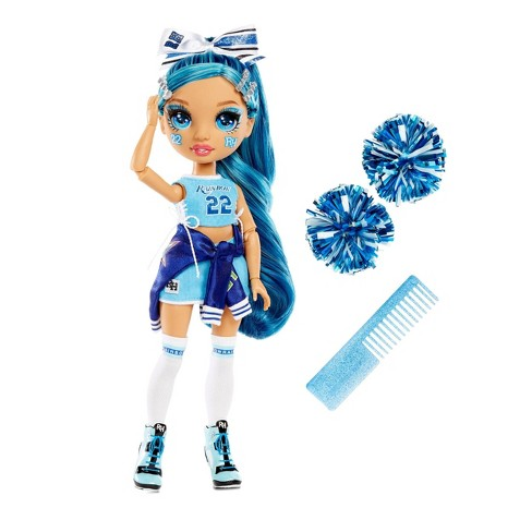 Rainbow HighCheer Skyler Bradshaw - BlueFashion Dollwith Cheerleader Outfit andDoll Accessories - image 1 of 4