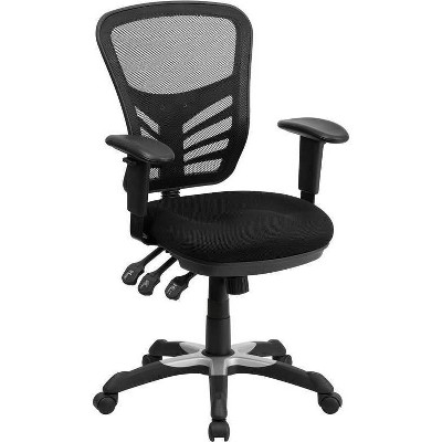 Mid Back Mesh Multifunction Executive Swivel Ergonomic Office Chair - Riverstone Furniture