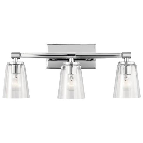 3-Light Chrome Bath Vanity Light