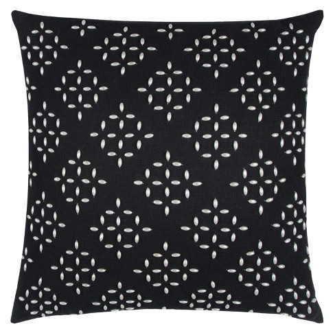 Black Geometric Throw Pillow - Rizzy Home - image 1 of 2