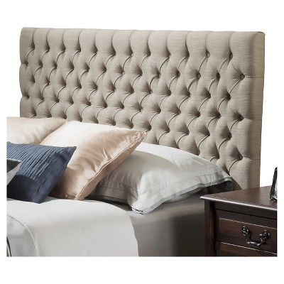 Ordinaire Jezebel Button Tufted Headboard King/California King Sand   Christopher  Knight Home