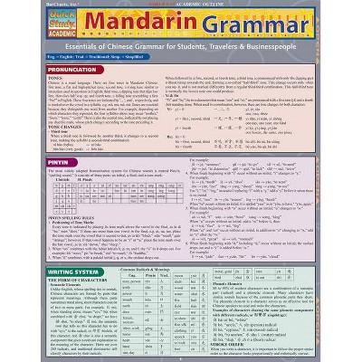 Mandarin Grammar - (Quickstudy: Academic) by  Lung-Hua Gail Hu (Poster)