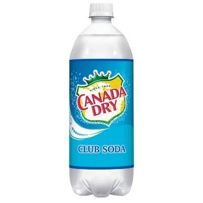 Canada Dry Club Soda - 1 L Glass Bottle