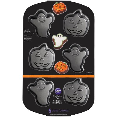 16  x 10.3  Ghost And Pumpkin Baking Pan Silver - Wilton