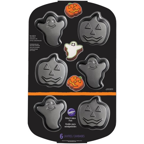 "16"" x 10.3"" Ghost And Pumpkin Baking Pan Silver - Wilton - image 1 of 4"