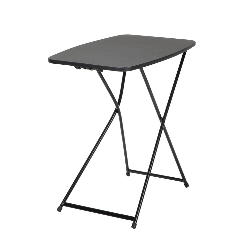 "Image of ""18"""" X 26"""" 2pk Adjustable Height Personal Folding Tailgate Table Black - Room & Joy"""