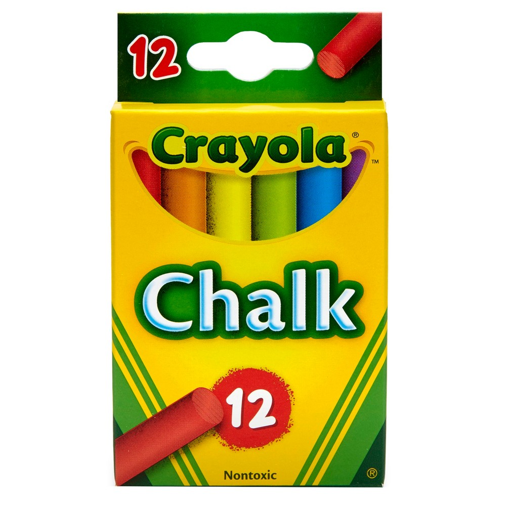 Crayola Chalk 12ct Multicolor, Multi-Colored