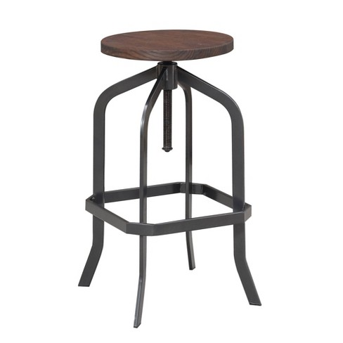 Court Adjustable Backless Bar Stool Brown - Picket House Furnishings - image 1 of 4