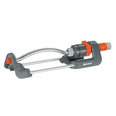 Gardena 1980 Polo 2400 Square Foot Oscillating Sprinkler with Adjustable Range
