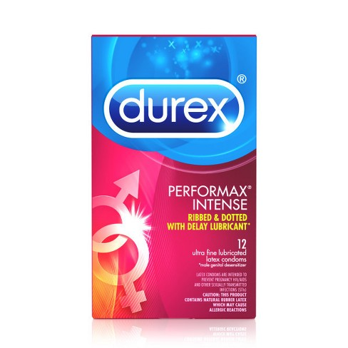 Durex Performax Intense Condoms - 12ct - image 1 of 3