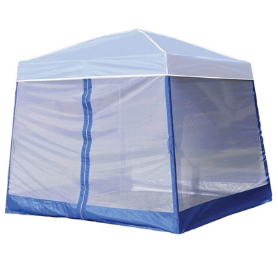 Z-Shade 10' Horizon Angled Leg Breathable Mesh Screen Shelter Protectant Attachment for Horizon Canopy Tents, Blue (Attachment Only)
