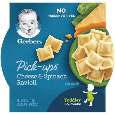 Gerber Toddler Pasta Pick-ups Cheese & Spinach Ravioli Baby Meals - 6oz