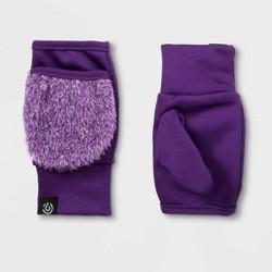 Girls' Faux Sherpa Fingerless Flip Mittens - C9 Champion® Purple