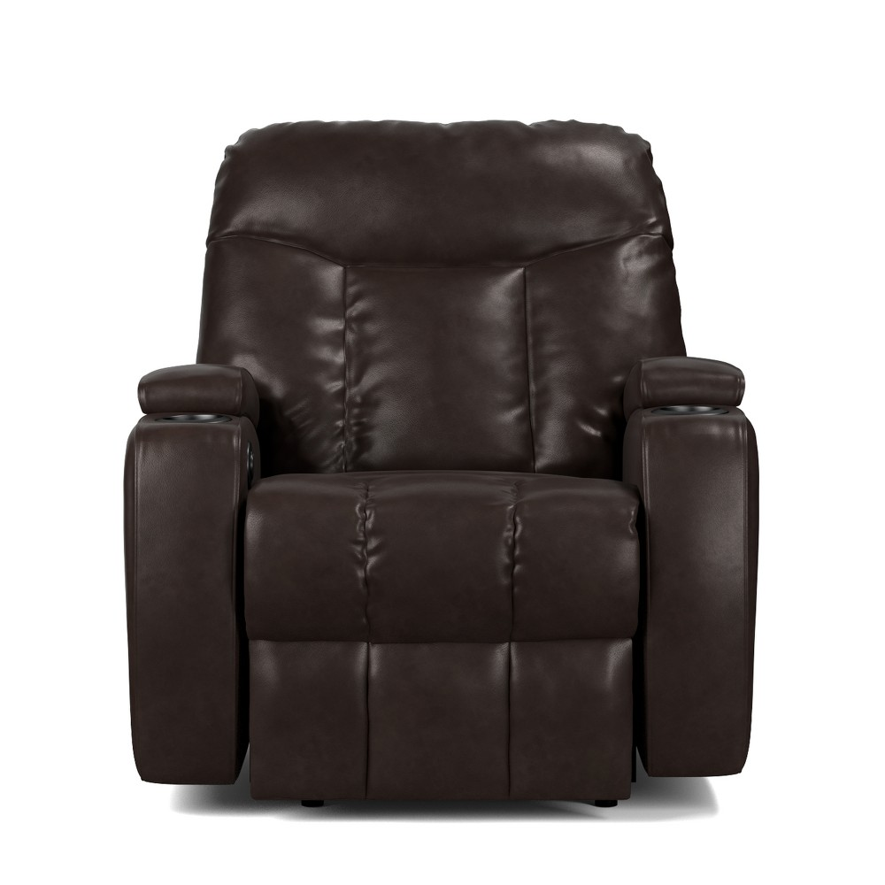 Wall Hugger Storage Recliner Power Chair - Coffee (Brown) Brown- Prolounger